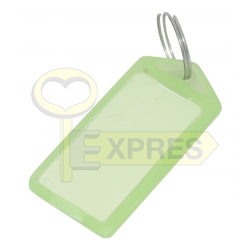 Two-sided large identifier light green (50 pcs)
