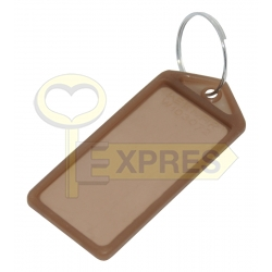 Two-sided large identifier brown (50 pcs)