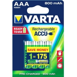 AAA - Akumulatorek VARTA ACCU READY TO USE 800 mAh NiMH