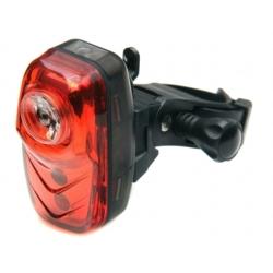 Lampa rowerowa tylna, 1x0,5W + 2 Red LED 12 LM, 2xAAA