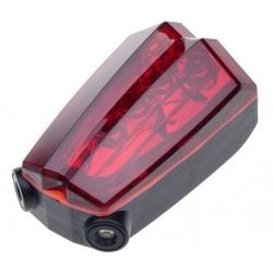Lampa rowerowa tylna, Falcon Eye, LED + LASER, 2x AAA - zestaw