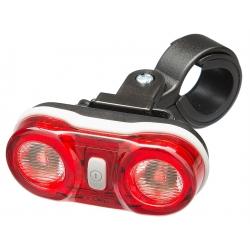 Lampa rowerowa tylna, Mactronic WALL'E 2, bateryjna (2x AAA) - zestaw