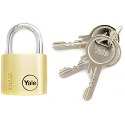 Yale Y110 30mm - kłódka mosiężna, 3 klucze w komplecie