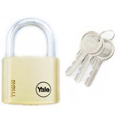 Yale Y110 40mm - kłódka mosiężna, 3 klucze w komplecie