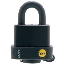 Yale Y220 51mm - wodoodporna kłódka z dwukulkowym mechanizmem