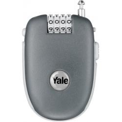 Yale YR1 64 mm - linka bagażowa na szyfr, możliwośc zmiany kodu, kolor szary