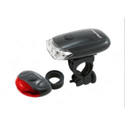 Zestaw lamp rowerowych, Falcon Eye, 3x AAA/2x AAA - zestaw