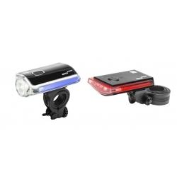 Zestaw lamp rowerowych, GALAXY, 44/16 LM, 3x AAA/2x AAA - zestaw