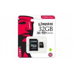 Karta Pamięci - Kingston Canvas Select - microSDHC - 32GB kl.10 + adapter