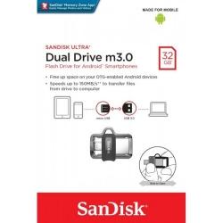 Pendrive - SanDisk ULTRA - USB 3.0 DUAL - 32GB