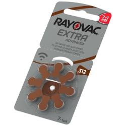 R312 - RAYOVAC EXTRA - do aparatów słuchowych - 1,45V (8-pak)