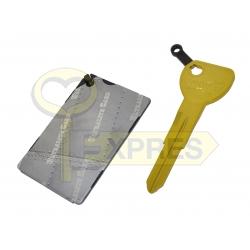 Klucz aluminiowy z kartą (HON58R)