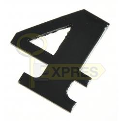 Black address digit - 4
