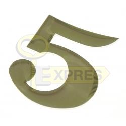 Gold address digit - 5