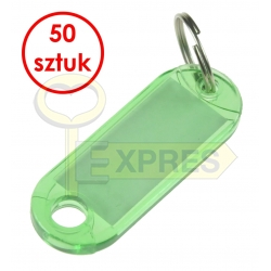 Two-sided identifier dark green (50 pcs)