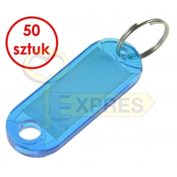 Two-sided identifier blue (50 pcs)