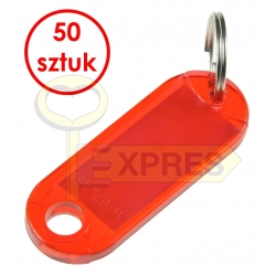 Two-sided identifier red (50 pcs)
