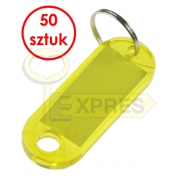 Two-sided identifier yellow (50 pcs)