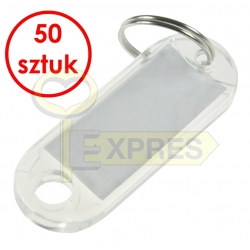 Two-sided identifier transparent (50 pcs)