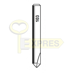 Frez W103-CA 6x40x0.8 90st węglowy Widia