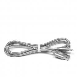 kabel USB USB-C 1,2m eXtreme PLECIONY srebrny