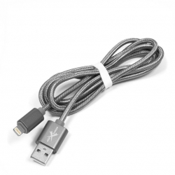 kabel USB Lightning 1,2m eXtreme PLECIONY srebrny