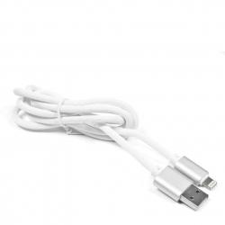 kabel USB Lightning 1,5m eXtreme SILIKON biały-srebrny - pudełko