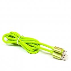 kabel USB Lightning 1,5m eXtreme SILIKON zielony - pudełko
