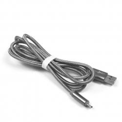 kabel micro USB 1,2m eXtreme PLECIONY srebrny