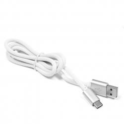 Kabel silikonowy USB / USB-C eXtreme 1,5 m biały-srebrny