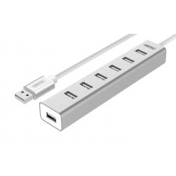 HUB USB 2.0 - 7-portowy UNITEK Y-2183 z zasilaczem