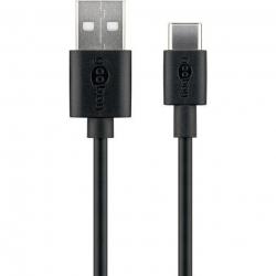 kabel USB USB-C 0,1m Goobay 38675 czarny