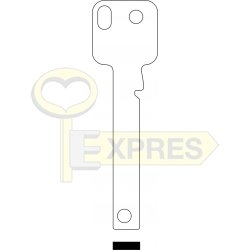 Klucz nacinany OLA gr. 2.45mm