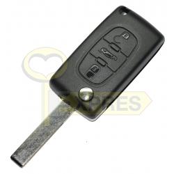 Key with Remote Peugeot/Citroen 3P/VA2