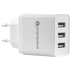Ładowarka USB 3 gn. everActive 3.4A