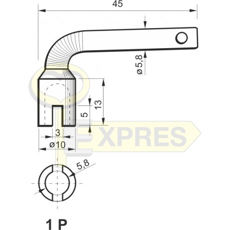 Pipe wrench 1P