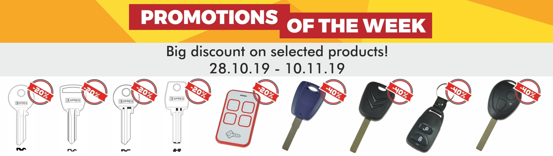 Promotions of the week